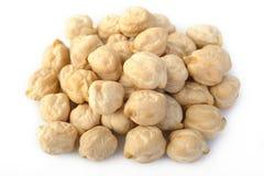 Garbanzo bean on white background Stock Image