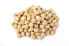 Garbanzo beans at on white background Royalty Free Stock Images