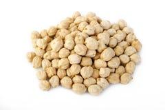Garbanzo beans at on white background. Garbanzo beans on white background royalty free stock images