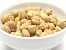 Garbanzos on white Royalty Free Stock Photos
