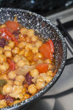 Garbanzos y Chorizo Stock Images