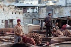 Garbarni souk, Maroko Zdjęcie Royalty Free