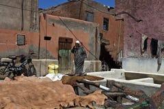 Garbarnie w starym Medina Marrakesh Obrazy Royalty Free