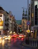 Garbary street in Poznan Stock Photography