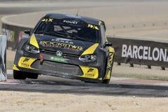 Garbarz FOUST Volkswagen Polo Barcelona FIA świat Obraz Stock