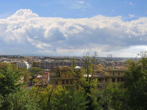 Garbatella overview in Rome Royalty Free Stock Images