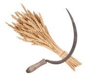 Garbe des Weizens und der Sichel Stockbild