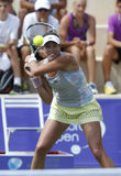 Garbine Muguruza top tennis player playing in the Mallorca Open. Stock Photos