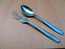 Garbu spoon on the tray Stock Photo