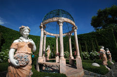 Garcebo and sculptures. In european garden Stock Image