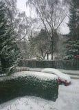 Garching, Германия, снежный городской пейзаж Стоковые Фото