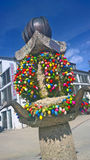 Garching, Germany -  Easter decoration on fountain Royalty Free Stock Photo