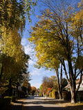 Garching, Germany, urban street with autumnal colors Stock Images