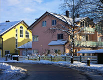 Garching, Germany - urban view with snow Royalty Free Stock Image