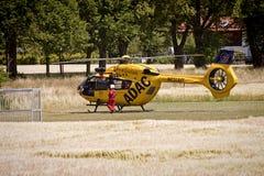 Garching-Notlandung eines ADAC-Hubschraubers mit Stockbilder