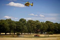 Garching-Notlandung eines ADAC-Hubschraubers mit Lizenzfreie Stockbilder