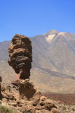 Garcia rock and volcano teide Royalty Free Stock Photo