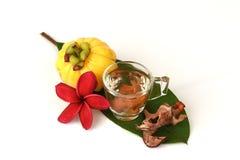 Garcinia atroviridis fruit. Stock Photo