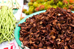 Garcinia Cambogia. Dry Garcinia Cambogia  in the market in thailand Stock Photo