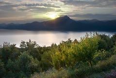 garda湖横向 库存照片