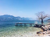 Garda湖美丽的景色  库存照片