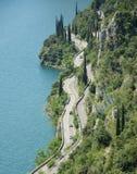 Garda湖西海岸 库存照片