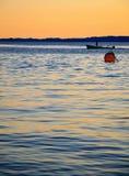Garda del lago Italien del barco pesquero Foto de archivo