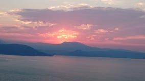 Garda del lago sunset Fotografía de archivo