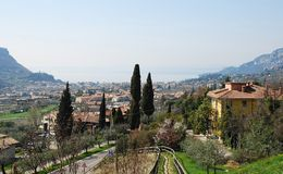 Garda and Foreground Scenery, Italy Royalty Free Stock Images