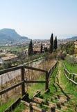 Garda and Foreground Scenery Royalty Free Stock Photo