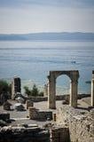 garda Italy jeziorny rzymski ruin sirmione Obrazy Royalty Free