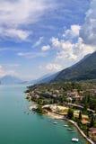Garda jeziora krajobraz w lecie Fotografia Royalty Free