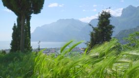 Garda jeziora widok zbiory wideo
