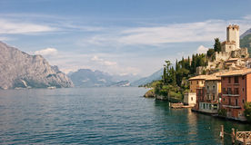 Garda lake. View on Malcesine and nord part of Garda lake, Italy Royalty Free Stock Images