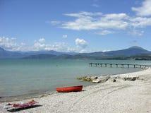 Garda Lake. Beach on the Garda Lake Royalty Free Stock Photo