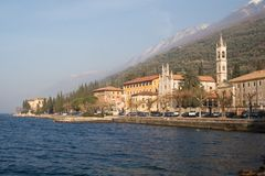 Garda lake. In north of Italy royalty free stock image