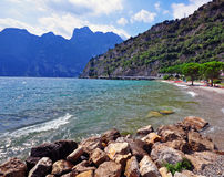 Garda lake beach Royalty Free Stock Photography