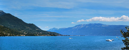 Garda lake. The big lake of italy Royalty Free Stock Photo