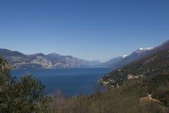 Garda lake from Crero Royalty Free Stock Photo
