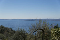 Garda lake from Crero Royalty Free Stock Photography