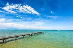 Garda lake, Desenzano, italy Stock Photos