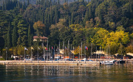 Garda on Lake Garda in Northern Italy Stock Image