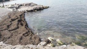 Garda lake. Lake garda Italy beach 2017 Royalty Free Stock Image