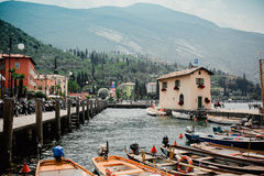 Garda lake italy  landscape. Travel Stock Photos
