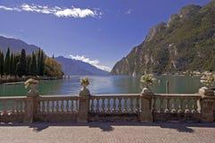 Garda Lake, Italy. Garda lake at Riva del Garda, Italy, on summer sunny day royalty free stock photos