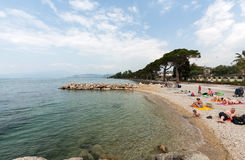 Garda Lake /Lago di Garda/, largest Italian lake in North Italy Royalty Free Stock Photography