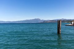 Garda Lake /Lago di Garda/, largest Italian lake in North Italy Royalty Free Stock Photo