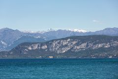 Garda Lake /Lago di Garda/, largest Italian lake in North Italy Royalty Free Stock Images