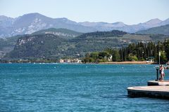 Garda Lake /Lago di Garda/, largest Italian lake in North Italy Stock Image