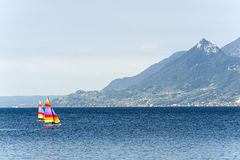 Garda lake at Malcesine Stock Image